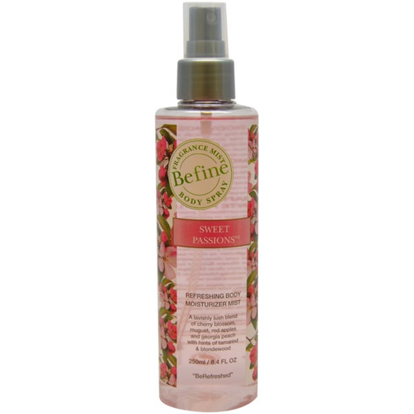 Befine Sweet Passions Refreshing Body Moisturizer Mist 8.4-ounce Body Spray