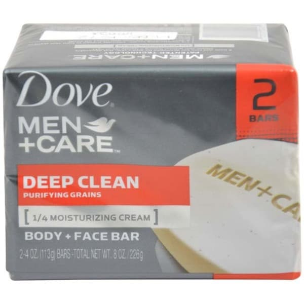 Dove Deep Clean Body and Face Bar 2 x 4.25-ounce Soap