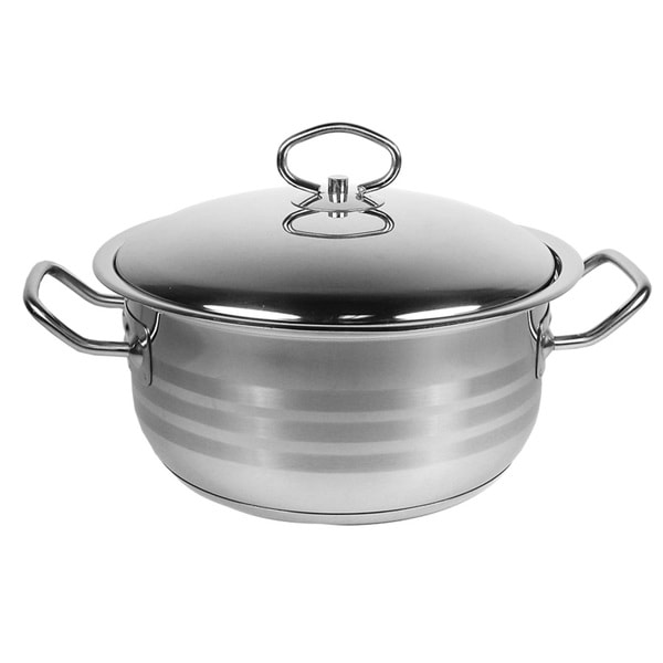 Prestige 18/10 Stainless Steel 26-qt. Dutch Oven with Lid