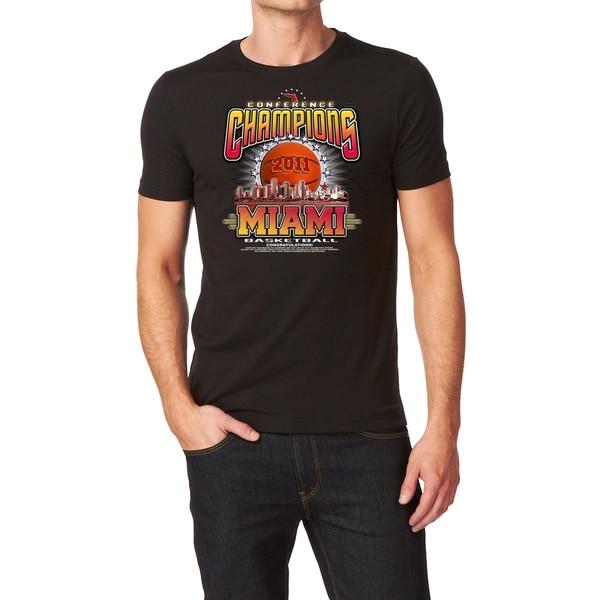 2011 Miami Basketball Conference Champions Black T-shirt
