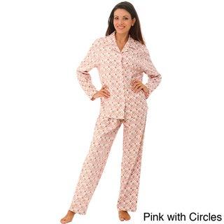 Alexander Del Rossa Women's Classic Flannel Pajamas Set