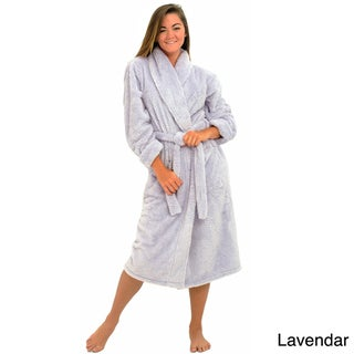 Alexander Del Rossa Women's Super Plush Microfiber Bathrobe