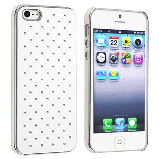 BasAcc Quilted Leather with Diamond Protector Case for Apple iPhone 5