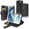 BasAcc Leather Case with Card Holder for Samsung Galaxy Note II N7100