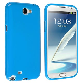 BasAcc Sky Blue Jelly TPU Case for Samsung Galaxy Note II N7100