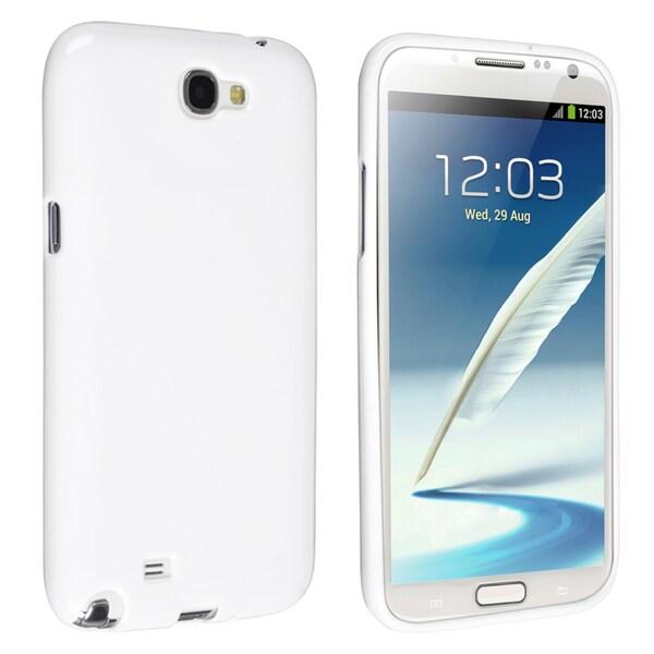 BasAcc White Jelly TPU Case for Samsung Galaxy Note II N7100