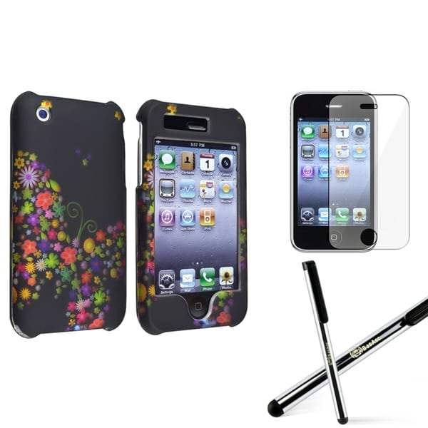 BasAcc Snap-on Case/ Screen Protector/ Stylus for Apple iPhone 3G/ 3GS