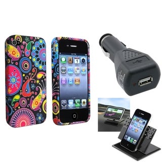 BasAcc TPU Case/ Phone Holder/ Car Charger for Apple iPhone 4/ 4S