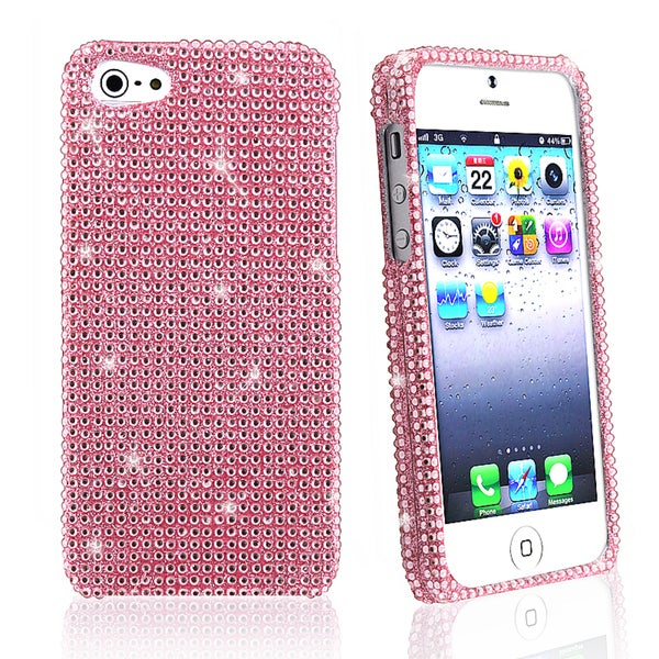 BasAcc Light Pink Diamond Snap-on Case for Apple iPhone 5