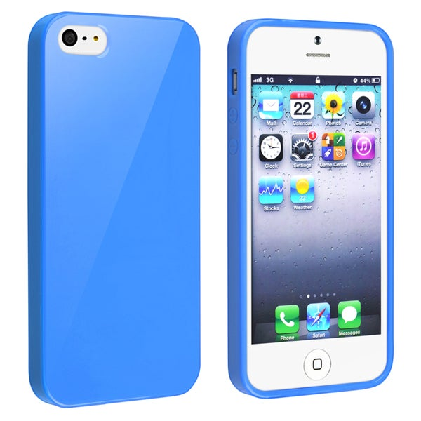 BasAcc Blue Jelly TPU Rubber Skin Case for Apple® iPhone 5