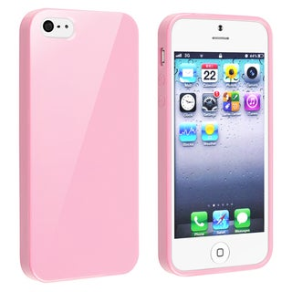BasAcc Light Pink Jelly TPU Rubber Skin Case for Apple� iPhone 5/ 5S