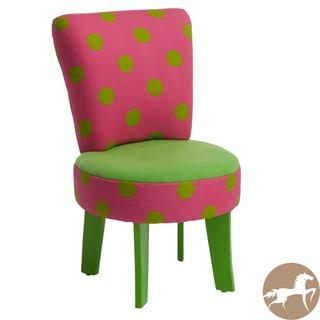 Christopher Knight Home Elizabeth Kids' Green/ Pink Chair