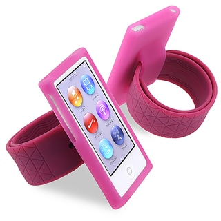 BasAcc Hot Pink Silicone Watchband for Apple iPod nano Generation 7
