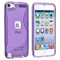 BasAcc Shock-Absorbent Purple TPU Rubber Skin Case for Apple iPod Touch Generation 5