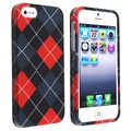BasAcc Red/ Grey Snap-on Rubber Coated Case for Apple iPhone 5