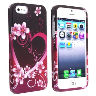 BasAcc Rose Red Snap-on Rubber Coated Case for Apple� iPhone 5