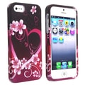 BasAcc Rose Red Snap-on Rubber Coated Case for Apple iPhone 5