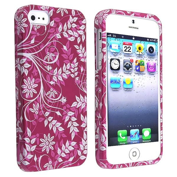 BasAcc Purple Snap-on Rubber Coated Case for Apple® iPhone 5