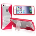 BasAcc Red TPU Rubber Skin Case with Stand for Apple iPhone 5