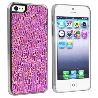 INSTEN Purple Bling Snap-on Phone Case Cover for Apple iPhone 5