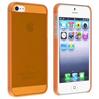 BasAcc Clear Orange Snap-on Slim Case for Apple iPhone 5