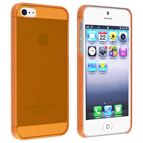 INSTEN Clear Orange Snap-on Slim Phone Case Cover for Apple iPhone 5/ 5S