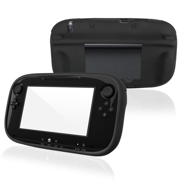 INSTEN Black Soft Silicone Skin Case Cover for Nintendo Wii U