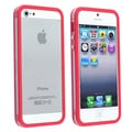 BasAcc Clear/ Red Bumper Case with Button for Apple iPhone 5/ 5S
