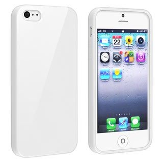 BasAcc White Jelly TPU Rubber Skin Case for Apple iPhone 5