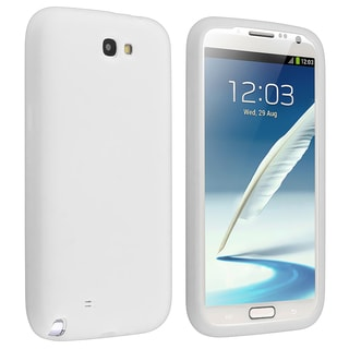 BasAcc Solid White Silicone Skin Case for Samsung� Galaxy Note 2 N7100