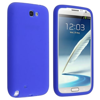 BasAcc Blue Silicone Skin Case for Samsung� Galaxy Note 2 N7100