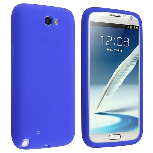 BasAcc Blue Silicone Skin Case for Samsung© Galaxy Note 2 N7100