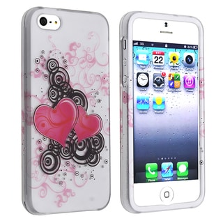 BasAcc Pink Hearts Snap-on Case for Apple iPhone 5
