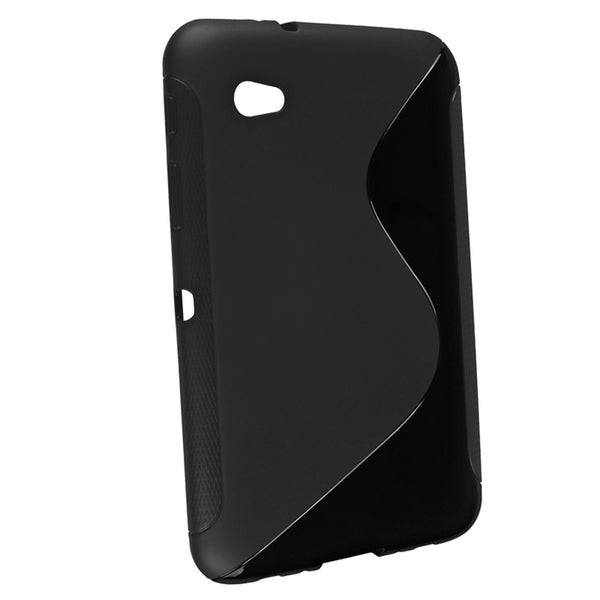 INSTEN Black S Shape TPU Tablet Case Cover for Samsung Galaxy Tab 2 7/ P3100/ P6200