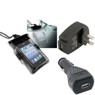 BasAcc Waterproof Case/ Charger for HTC EVO Shift 4G/ Sensation