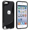 BasAcc Black S Shape TPU Rubber Case for Apple iPod Touch Generation 5
