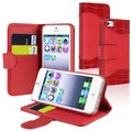 BasAcc Red Leather Case with Stand/ Card Holder for Apple iPhone 5