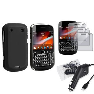 BasAcc Black Case/ Charger/ Protectors for BlackBerry Bold 9900
