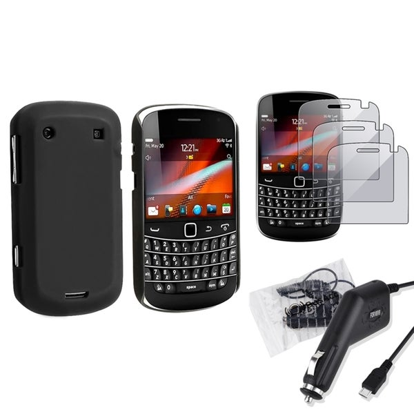 INSTEN Black Phone Case Cover/ Charger/ Protectors for BlackBerry Bold 9900