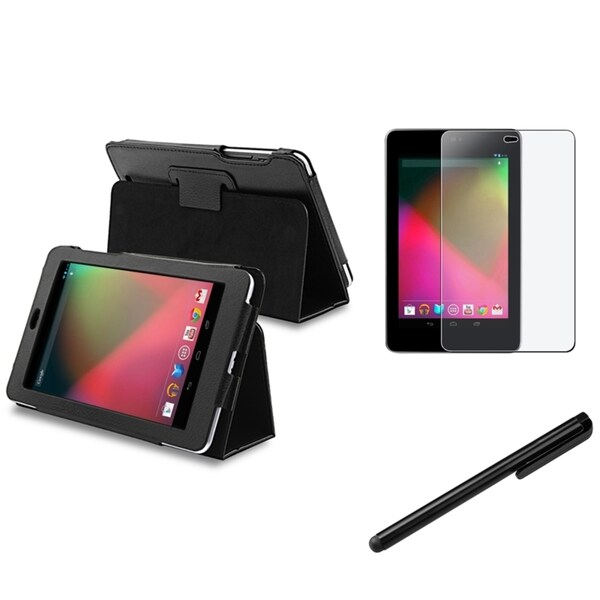 BasAcc Leather Case/ Stylus/ Anti-glare Protector for Google Nexus 7