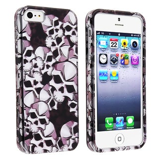 BasAcc Black Skull Snap-on Case for Apple iPhone 5