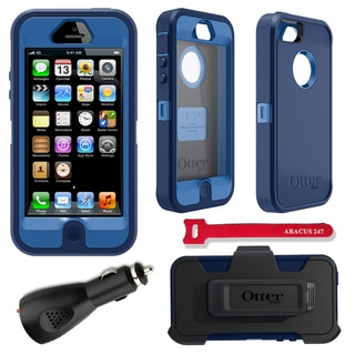OtterBox Defender iPhone 5 Protector Case / 2000 mAh Charger / Velcro Cable Tie