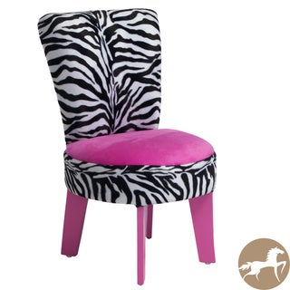 Christopher Knight Home Elizabeth Kids' Zebra/ Pink Chair