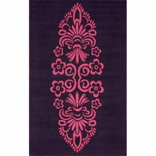 nuLOOM Handmade Medallion Pink Wool Rug