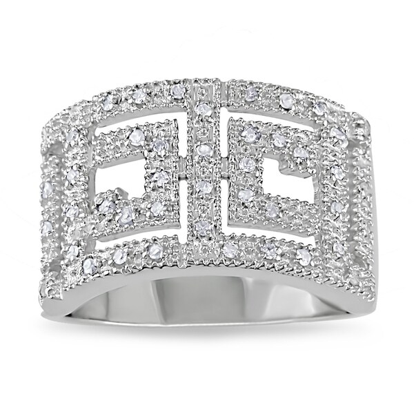 M by Miadora Sterling Silver 1/5ct TDW White Diamond Ring (H-I, I2-I3)