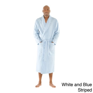 Alexander Del Rossa Men's Classic Cotton Bath Robe