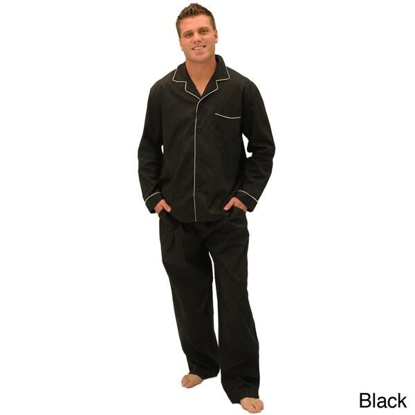 Alexander Del Rossa Men's Classic Cotton Pajamas Set