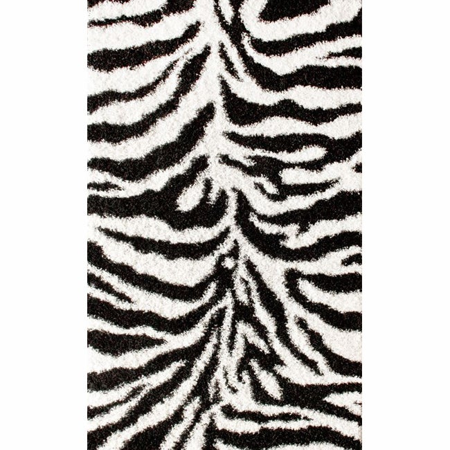 nuLOOM Luna Black and White Zebra Shag Rug (4' x 6') at Sears.com