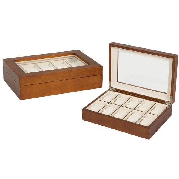 Seya Walnut 10-slot Watch Box