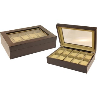 Seya Espresso 10-slot Watch Box